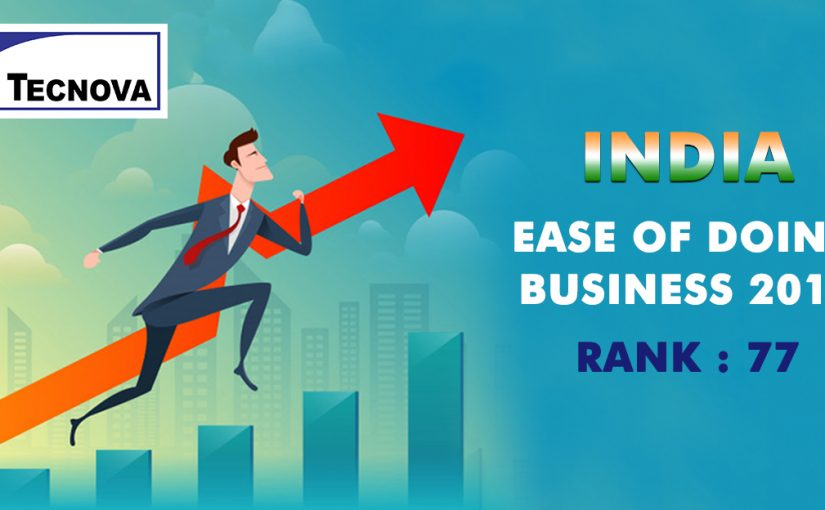 Ease of Doing Business- India Lands at Rank 77 in 2018 from Rank 130 in 2017